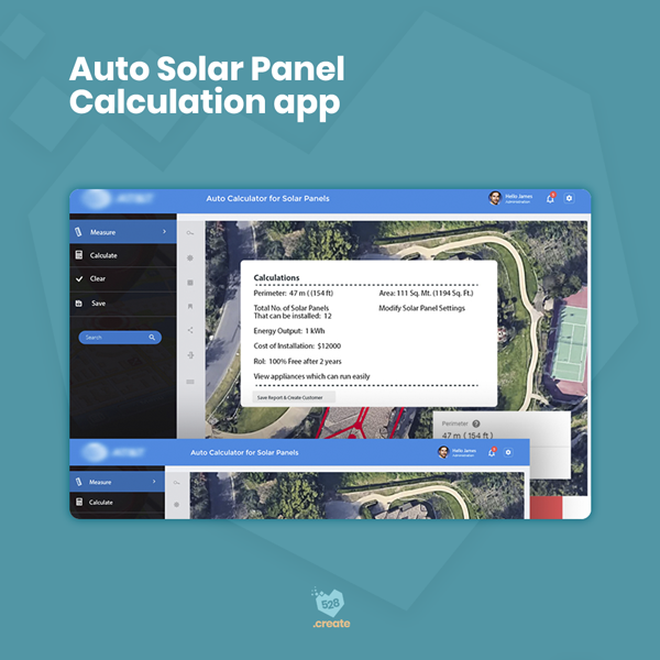 Auto Solar Panel Calculation App - 528create